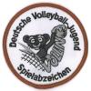 Aufnäher Bronze für das Spielabzeichen Volleyball