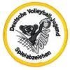 Aufnäher Gold für das Spielabzeichen Volleyball