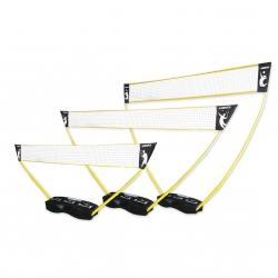 3 in 1 Netze-Set für Volleyball, Badminton und Tennis