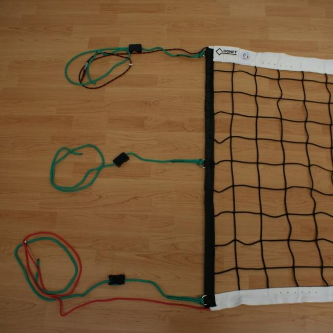 Volleyballnetz DVV 1, 6-Punkt-Aufhängung, 4 mm Polypropylen